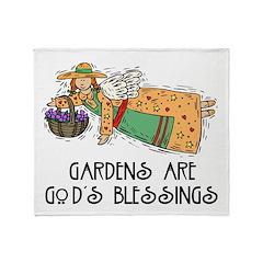 Gardens are God's Blessing Throw Blanket