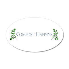 Compost Happens 38.5 x 24.5 Oval Wall Peel