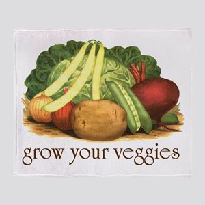 grow your veggies Throw Blanket