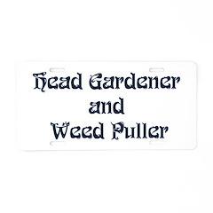 Head Gardener Aluminum License Plate