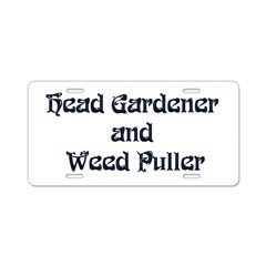 Head Gardener Aluminum License Plate