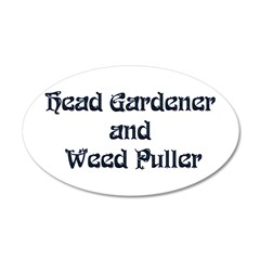 Head Gardener 38.5 x 24.5 Oval Wall Peel