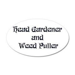 Head Gardener 38.5 x 24.5 Oval Wall Peel