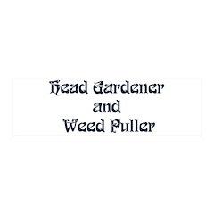 Head Gardener 42x14 Wall Peel