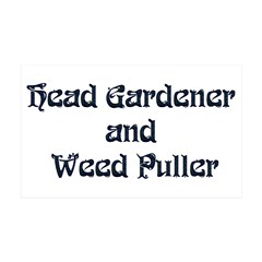 Head Gardener 38.5 x 24.5 Wall Peel