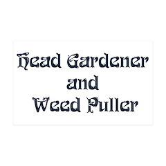 Head Gardener 38.5 x 24.5 Wall Peel
