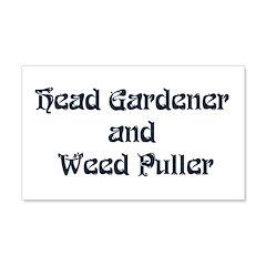 Head Gardener 22x14 Wall Peel