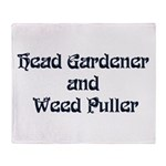 Head Gardener Throw Blanket