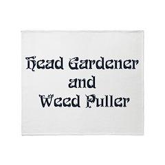 Head Gardener Throw Blanket