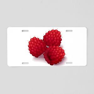 Raspberries Aluminum License Plate