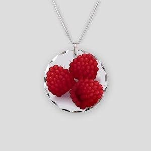 Raspberries Necklace Circle Charm