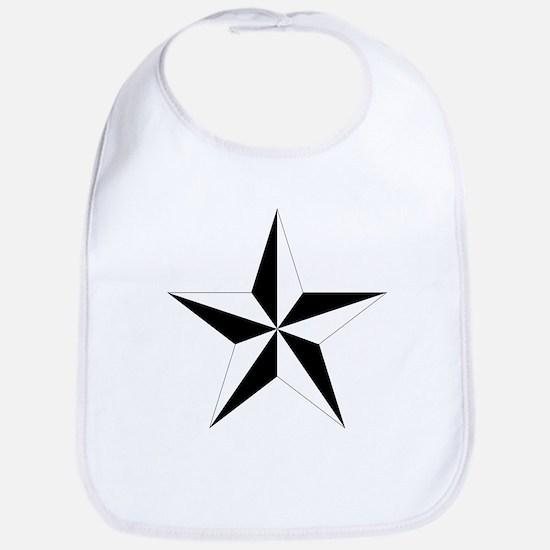 5 Pointed Star Pentagram Bib