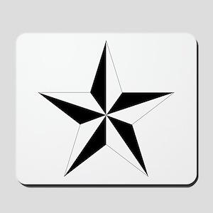 5 Pointed Star Pentagram Mousepad
