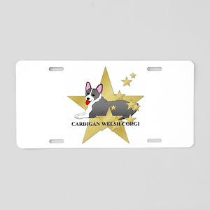 Corgi Stars Aluminum License Plate