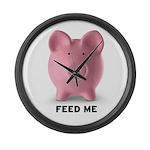 Feed Me Large Wall Clock