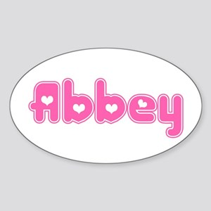 """""""Abbey"""" Oval Sticker"""