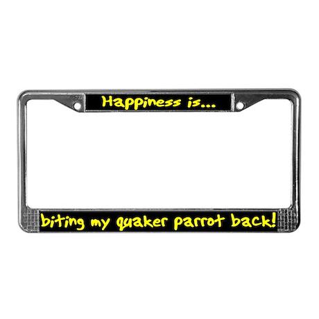 HI Biting Quaker Parrot License Plate Frame
