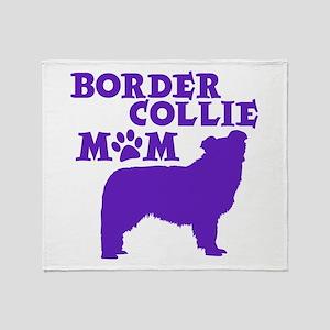 Border Collie MOM Throw Blanket