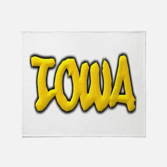 Iowa Graffiti Throw Blanket