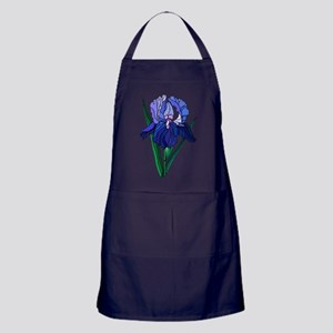 Stained Glass Iris Apron (dark)