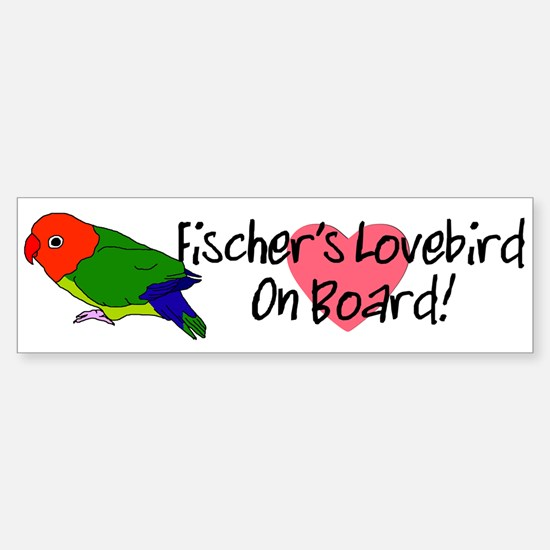 Fischer's Lovebird On Board Bumper Sticker (white)