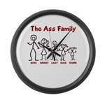The Ass Family Large Wall Clock