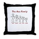 The Ass Family Throw Pillow