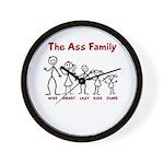 The Ass Family Wall Clock