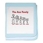 The Ass Family baby blanket