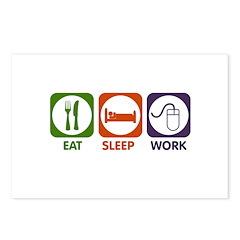 Eat. Sleep. Work. Postcards (Package of 8)