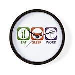 Eat. Sleep. Work. Wall Clock