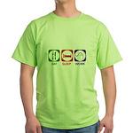 Eat. Sleep. Work. Green T-Shirt