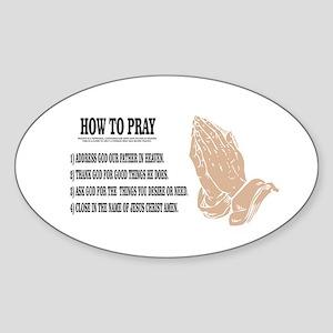 prayer lesson Sticker