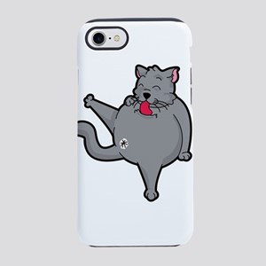 Happy grooming cat time iPhone 7 Tough Case