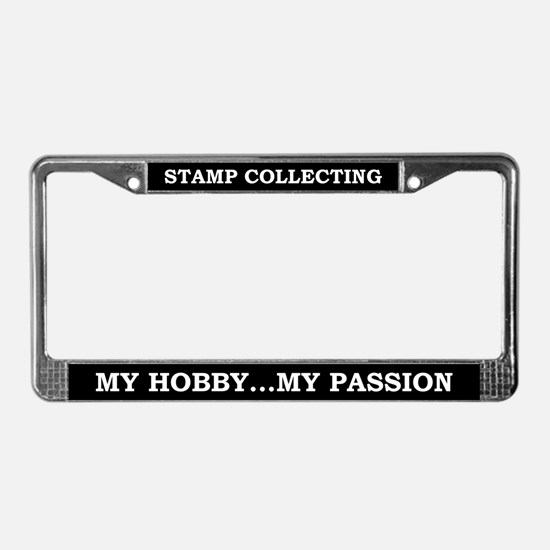 Stamp Collecting License Plate Frame