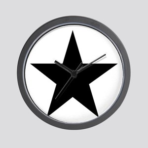 Black 5-Pointed Star Wall Clock