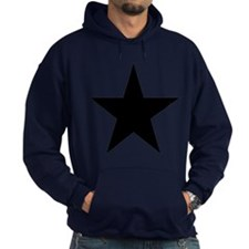 Black 5-Pointed Star Hoodie (dark)