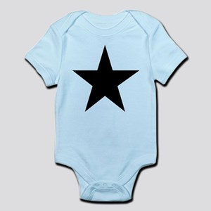 Black 5-Pointed Star Infant Bodysuit