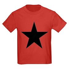 Black 5-Pointed Star Kids Dark T-Shirt