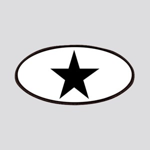 Black 5-Pointed Star Patches