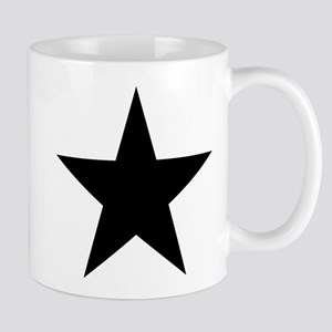Black 5-Pointed Star Mug