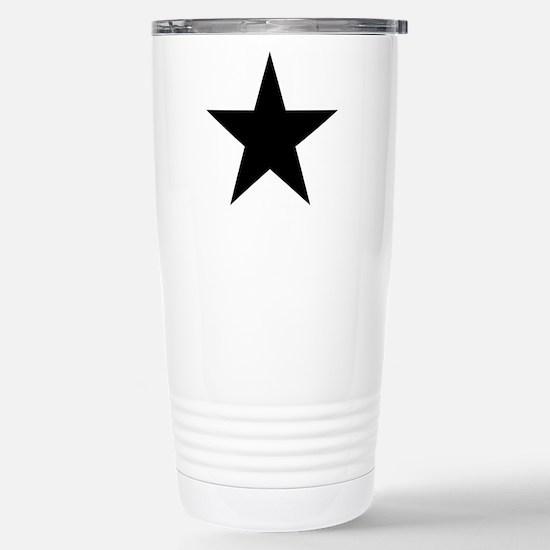 Black 5-Pointed Star Stainless Steel Travel Mug