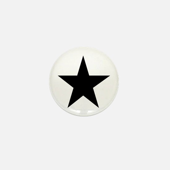 Black 5-Pointed Star Mini Button