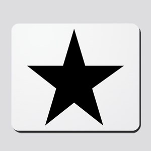Black 5-Pointed Star Mousepad