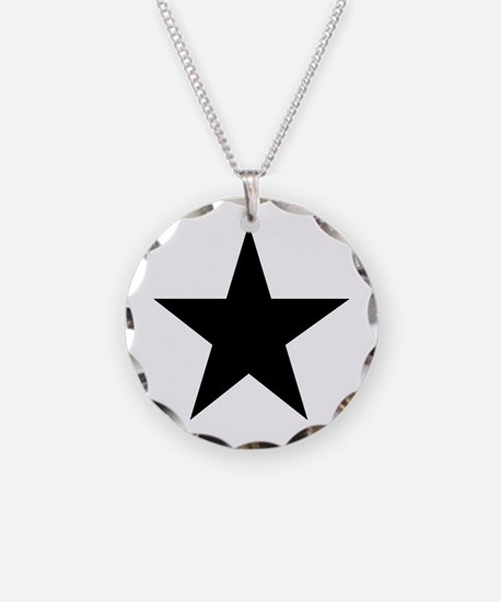 Black 5-Pointed Star Necklace