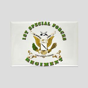 SOF - 1st SF Regiment Rectangle Magnet