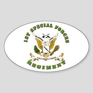 SOF - 1st SF Regiment Sticker (Oval)
