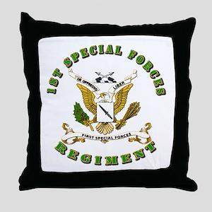 SOF - 1st SF Regiment Throw Pillow