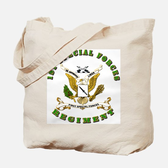 SOF - 1st SF Regiment Tote Bag