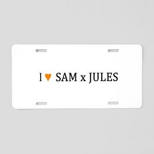I(HEART)SamxJules Aluminum License Plate